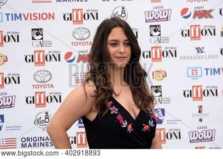 Giffoni Valle Piana, Sa, Italy - July 22, 2019 : Chiara Pia Aurora At Giffoni Film Festival 2019 - O