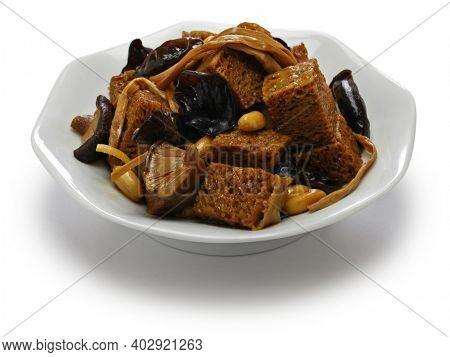 si xi kao fu, hong shao kao fu, Shanghai braised wheat gluten (seitan)