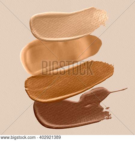 Brown shades skin color brush strokes social media post