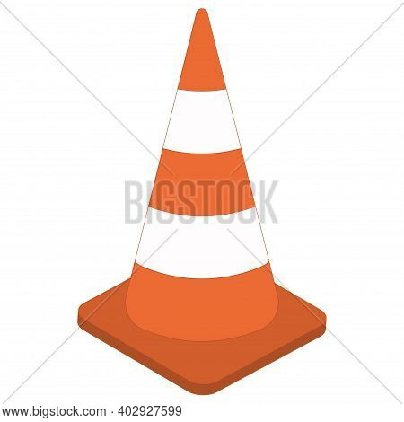 White Orange Traffic Cone 3d Sign Vector Cone Cartoon Traffic Control