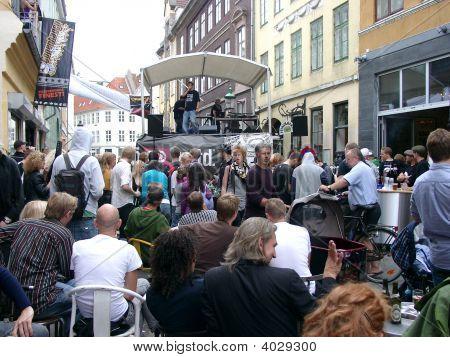 Street Concert In Copenhagen