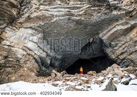 Great Entrance To The Cave, Mountainous Area Of The Urals, Southern Urals, Caves Of Russia, Caving,