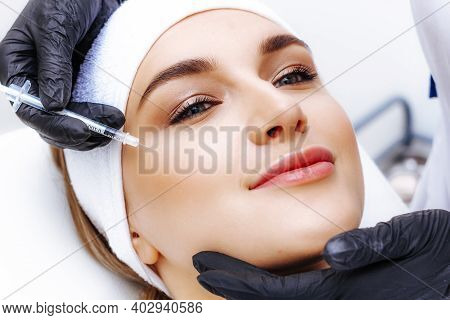 Facial Contouring Procedure Photo. Facial Rejuvenation Injection. Hyaluronic Acid Fillers.