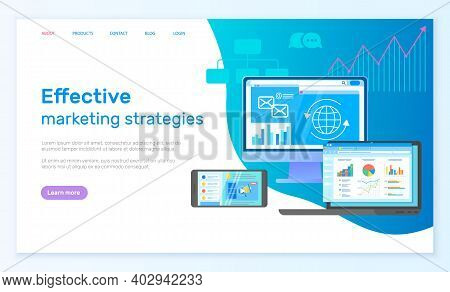 Effective Marketing Strategies Landing Page Template With Modern Digital Analytic Services Applicati