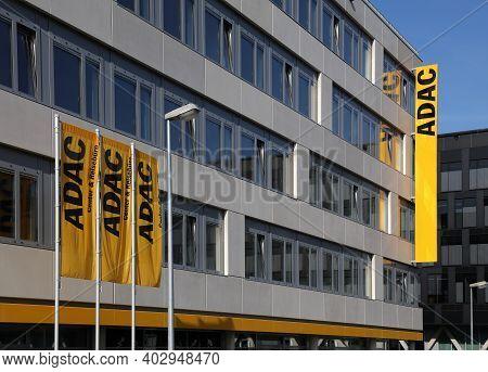 Essen, Germany - September 20, 2020: Adac Motoring Association Office In Essen, Germany. Adac Is Eur