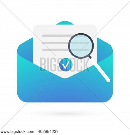 Email Verification, Validation Flat Vector Icon. Modern Illustration For Ui, Graphic, Web, Design, A