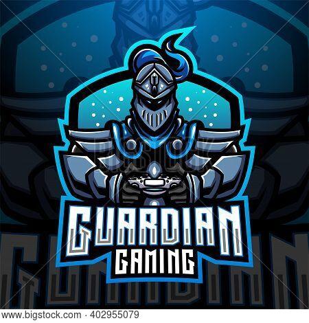 Guardian Gaming Esports Mascot Logo With Text