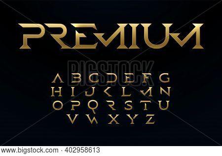 Premium Alphabet, Royal Style Golden Font, Modern Type For Elite Logo, Headline, Monogram, Creative