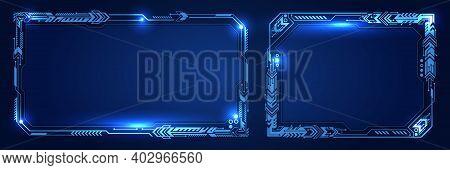 Abstract Futuristic Technology Interface Design. Sci Fi Control Display. Creative Vector Hud Gui, Ui
