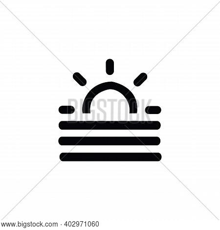 Sunset Icon Isolated On White Background From Ramadan Collection. Sunset Icon Trendy And Modern Suns