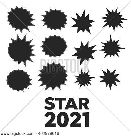 Different Starburst Vector. Starburst Isolated Icons Set