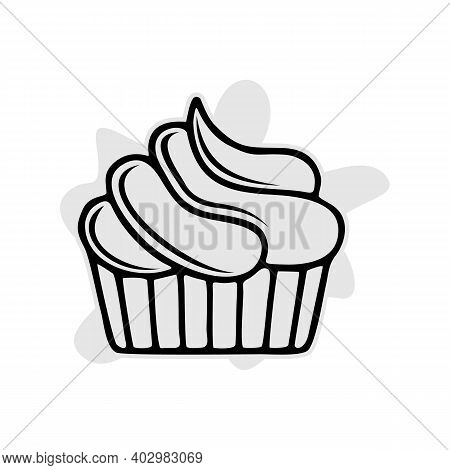 Cake Icon Isolated On White Background From Tea And Coffee Collection. Cake Icon Trendy And Modern C