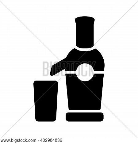 Electric Juicer Vector Glyph Icon. Kitchen Appliance. Graph Symbol For Cooking Web Site Design, Logo