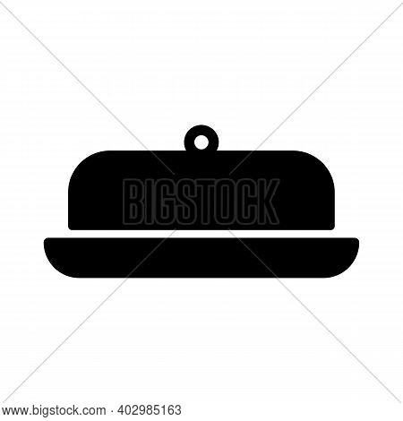 Butter Dish Vector Glyph Icon. Kitchen Appliance. Graph Symbol For Cooking Web Site Design, Logo, Ap