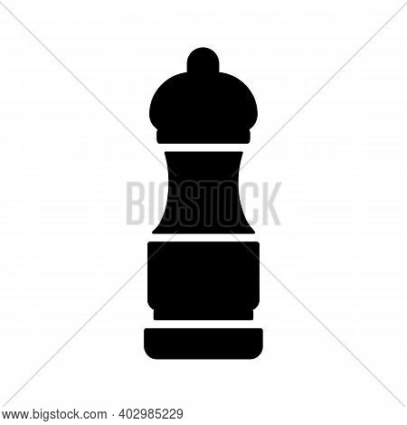 Pepper Mill Spice Grinder Vector Glyph Icon. Kitchen Appliance. Graph Symbol For Cooking Web Site De