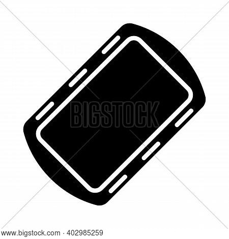 Pan Tray For Cooking And Baking In Oven Vector Glyph Icon. Kitchen Appliance. Graph Symbol For Cooki
