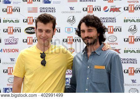 Giffoni Valle Piana, Sa, Italy - July 21, 2019 : Fulvio Risuleo And Antonio Celsi At Giffoni Film Fe