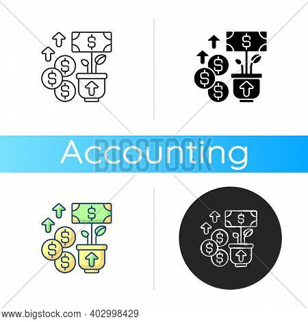 Revenue Icon. Income And Increase In Net Assets That Entity Has From Its Normal Activities. Budget I