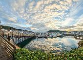 Cloud Reflections At Sunrise At Friday Harbor, Washington poster