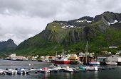 Andenes pier, Gryllefjord, ferry to Lofoten Islands, Norway poster