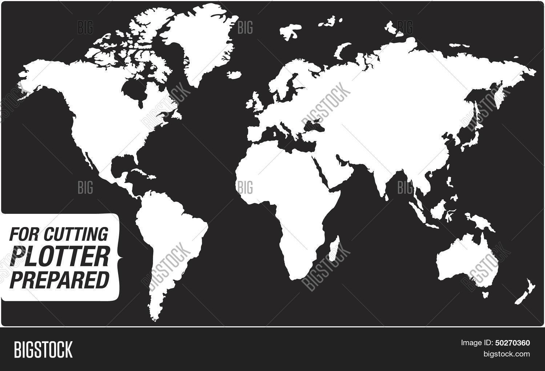 Map World Cutting Vector Photo Free Trial Bigstock - Map plotter free