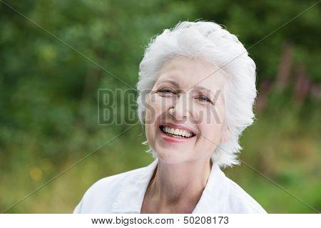 Vivacious Laughing Senior Woman