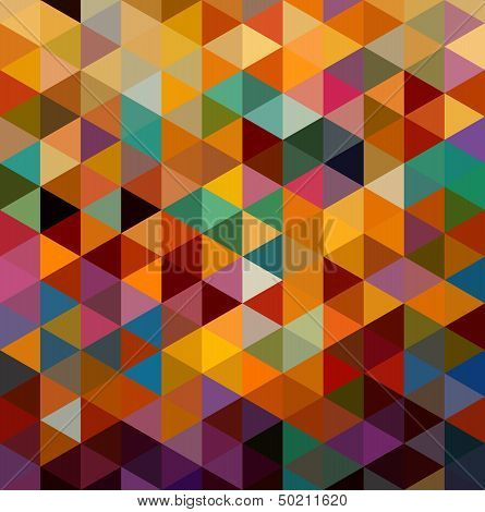 Vintage Triangles Seamless Pattern Background. Eps10 File.