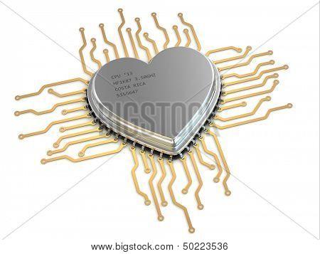 My favorite processor. Cpu as heart. 3d