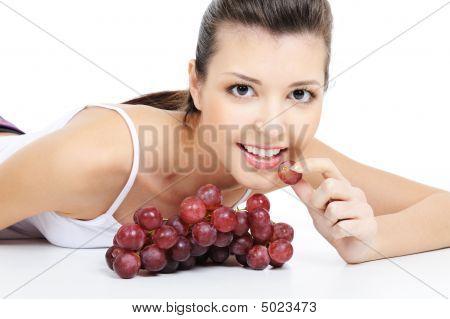 Girl Eating Grape