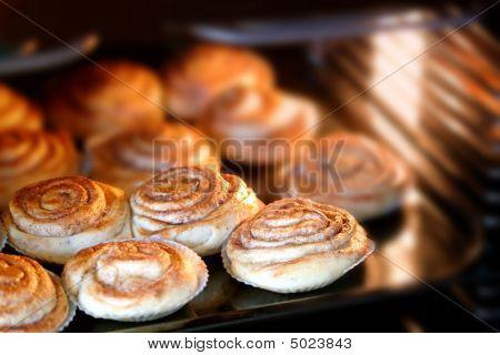 Cinnamon Rolls Baking