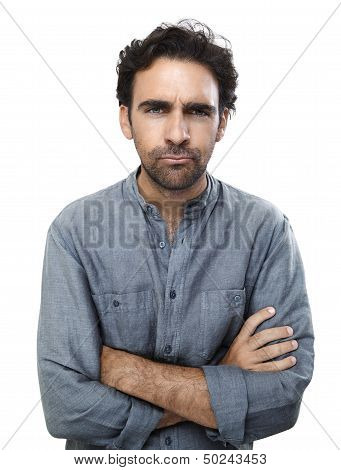 Displeased Man