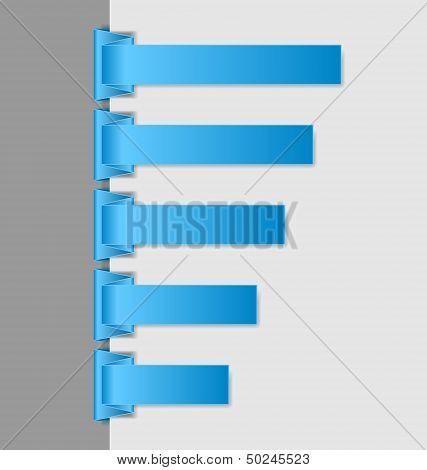 Blue Folded Paper Navigation Menu Backgrounds