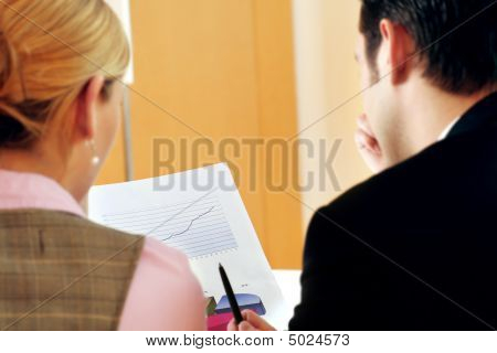 Business Team Is Talking In An Office