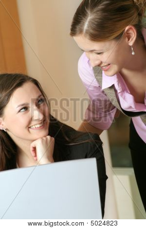 Business Team With A Laptop