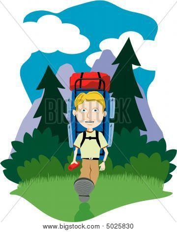 Boy Hiking