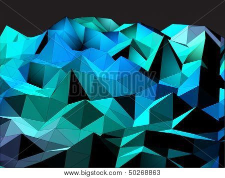 Abstract Triangular Landscape Background