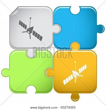Spaceship. Vector puzzle.