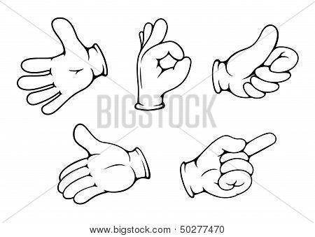 People hand gestures