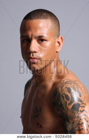 Hispanic Male With Tattoos