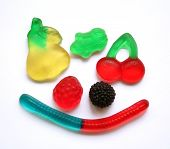 Colorful different Jelly Candy can use as background poster
