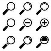 Magnifier Glass Icons. This is file of EPS8 format. poster