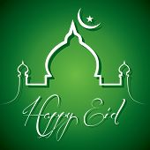 Creative calligraphy of text happy eid - vector illustration poster