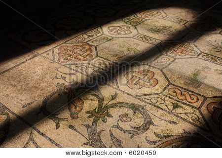 Roman mosaic in old church in Aquilea