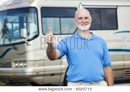 Rv Senior Man - Thumbs Up