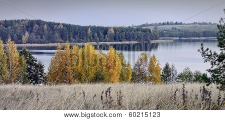 Autumn In A Trakai Regional Park Of A Lithuania