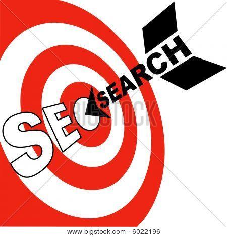 搜索引擎优化箭头点击 Seo 目标