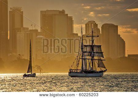 Tallship Soren Larsen in Sydney Harbour
