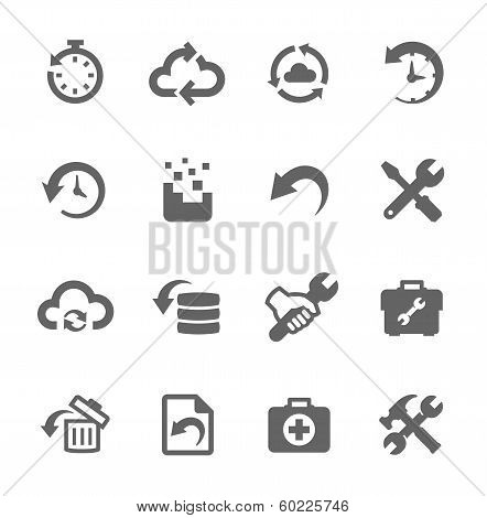 Recovery and repair icons