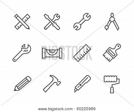 Thin line Tools icons