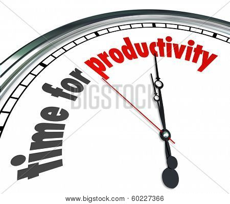 Time for Productivity Clock Get Work Done Now